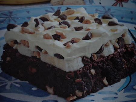 Banana Cream Brownie Dessert Recipe