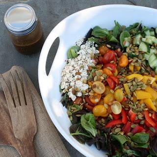 Fall Salad With Pumpkin Seeds and Maple Vinaigrette