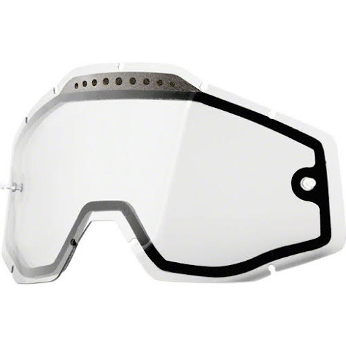 100% Replacement Anti-Fog Dual Lens, Clear - Vented