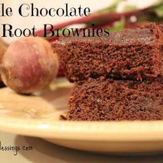 Double Chocolate Beet Root Brownies {Grain Free, Gluten Free, Paleo }.