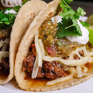 Shredded Beef Tacos with Verde Salsa