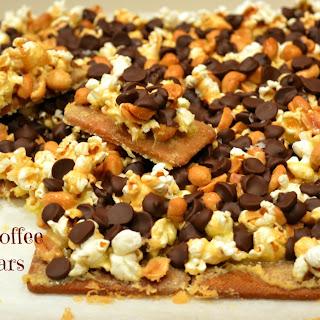 Popcorn Toffee Crack Bars