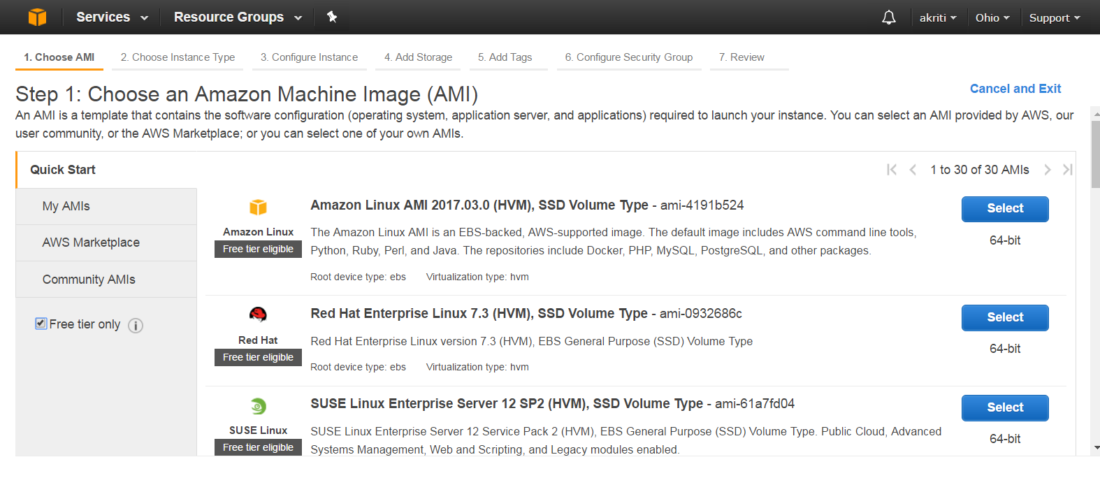 Create Virtual Machine on Amazon Web Services ( AWS ) 31