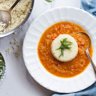 Moroccan Chickpea and Lemon Couscous Soup
