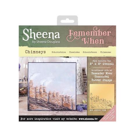 Sheena Douglass Remember When 8X8 Stencil - Chimneys UTGÅENDE
