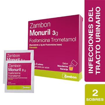 Monuril 3G Granulado   Sobres Caja X2Sob. Zambon Fosfomicina Trometamol