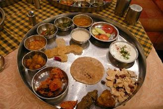 Photo: Gujarati Thali  Bhuj Gujarat