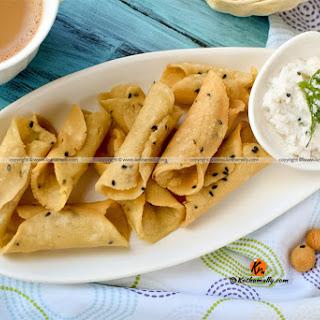 Kuzhalappam, Rice Flour Cannoli.