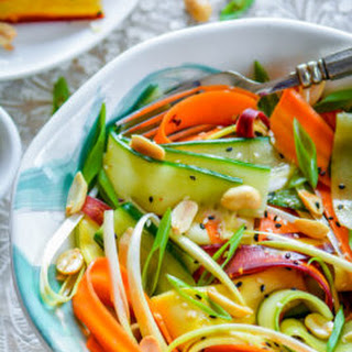 Asian Summer Ribbon Salad with Lite Sesame Soy Dressing Recipe