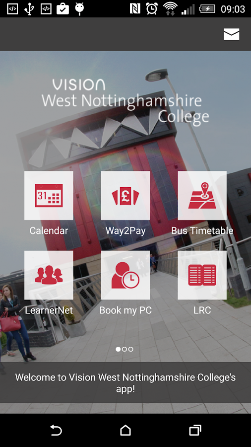 West Nottinghamshire College- screenshot