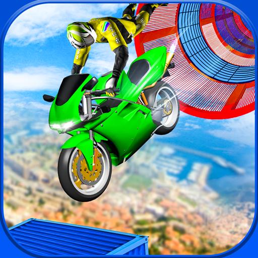 Heavy Bike Impossible Sky Track Stunts