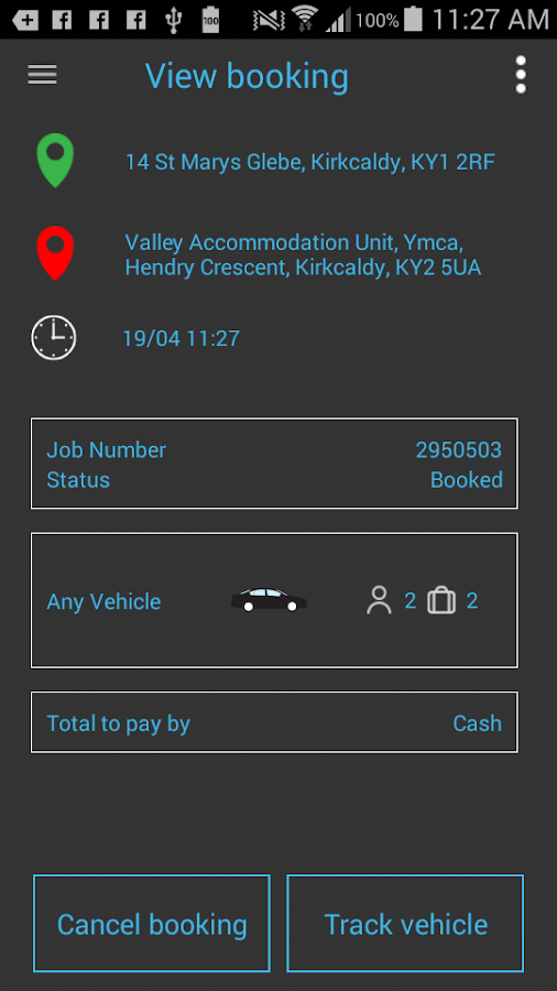 Taxi Central Booking App- screenshot