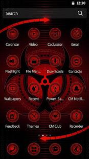 App Red Technology 3D Theme APK for Windows Phone