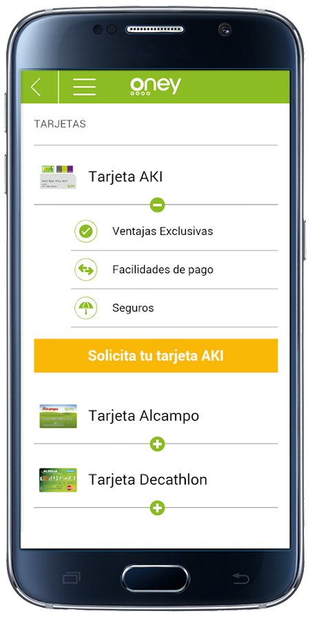 Oney espa a android apps on google play for Tarjeta alcampo oney