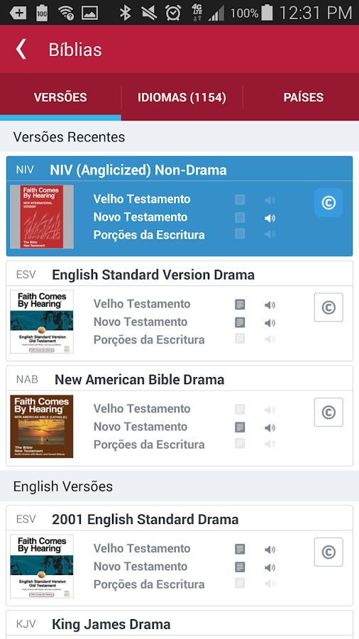 Bíblia: captura de tela