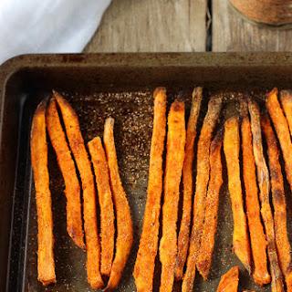 Crispy Baked Buffalo Sweet Potato Fries