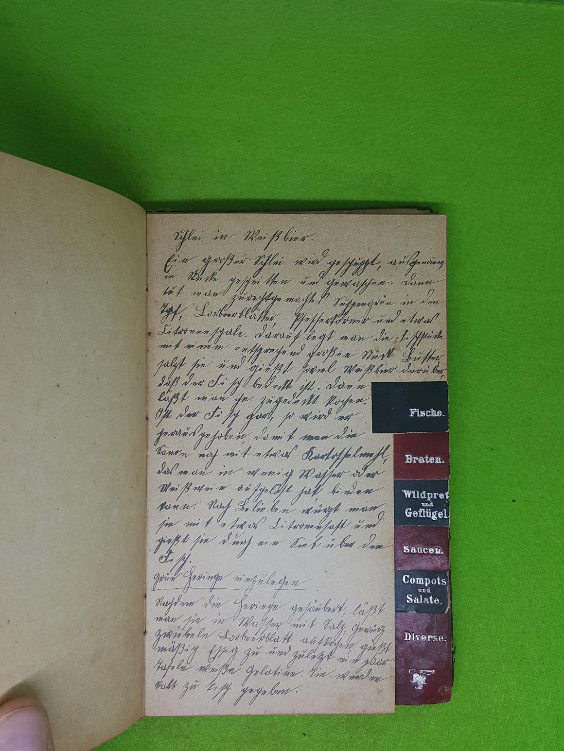 Rezeptbuch von 1907 - Fische