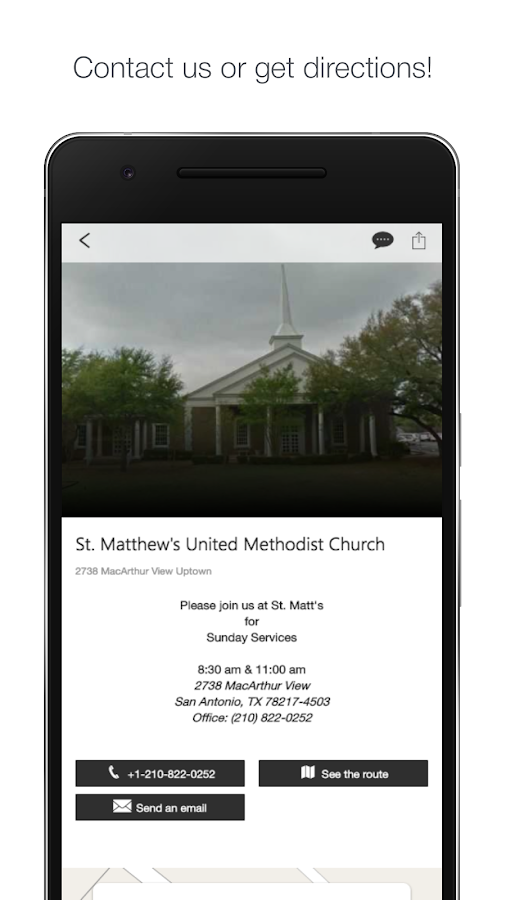 St. Matthew's UMC- San Antonio- screenshot