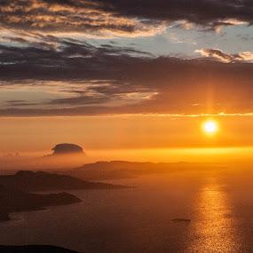Midnight Sun from Helgeland by Trond Svendsen - Landscapes Sunsets & Sunrises ( #landscape, #island, #visitnorway, #sea, #sunset, #summer )
