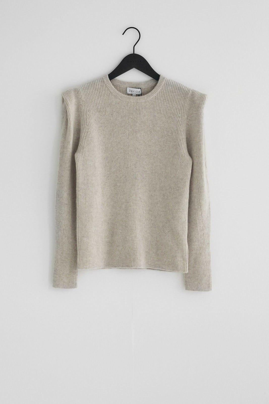 Shoulder Detail Rib Sweater