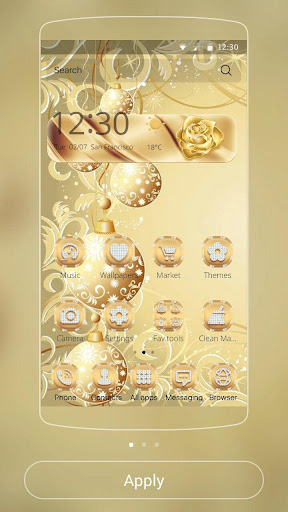 Gold Snow Ball Theme 1.1.2 screenshots 7