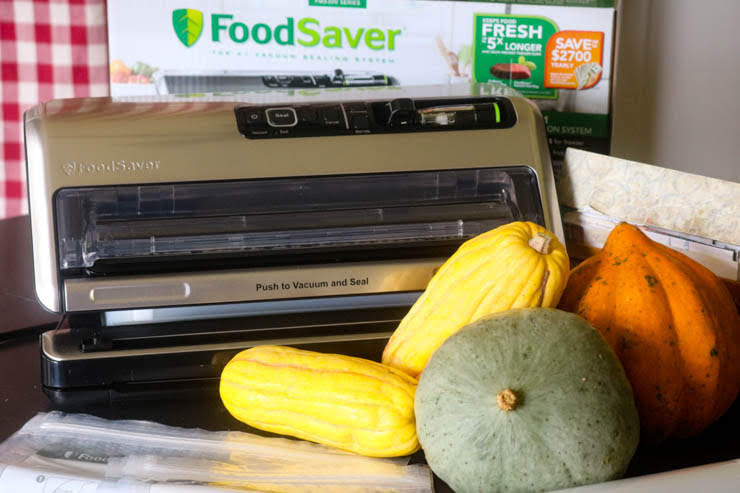 FoodSaver®Vacuum System with various squashes