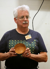 Photo: Jeff Tate is churning out an array of pieces. He began with this cherry bowl.