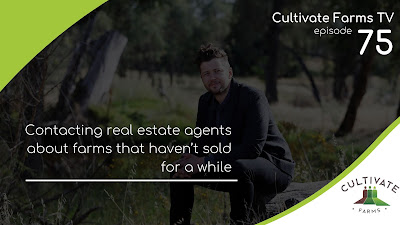 Contacting real estate agents about farms that haven't sold for a while