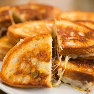 Grilled Cheese with Caramelized Onions.