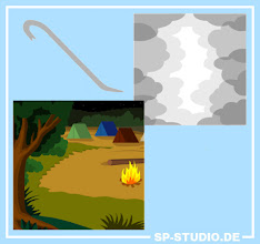"""Photo: A mixed update: I added a camping background to the SP-Studio. Yes, another forrest... but there can't be enough nature ;). A crowboard was included as well, a wish from the SP-Studio community. And you can use smoke clouds now in front of your character. I hope those are some useful additions.  Some bugs were fixed too:  - the eyepatch """"jumped"""" when it was moved - the text tools are in English language now instead of German - more hair styles can be flipped now"""