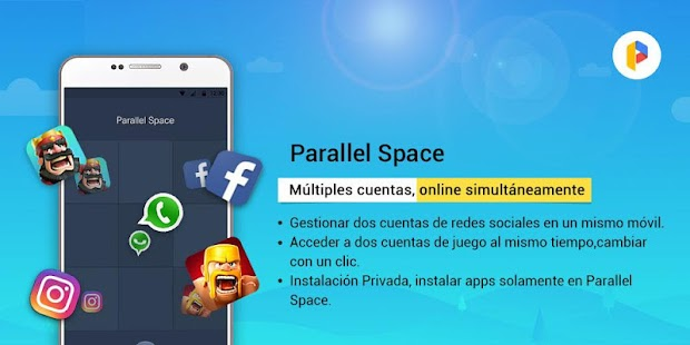 Parallel Space-Multi Cuentas Screenshot