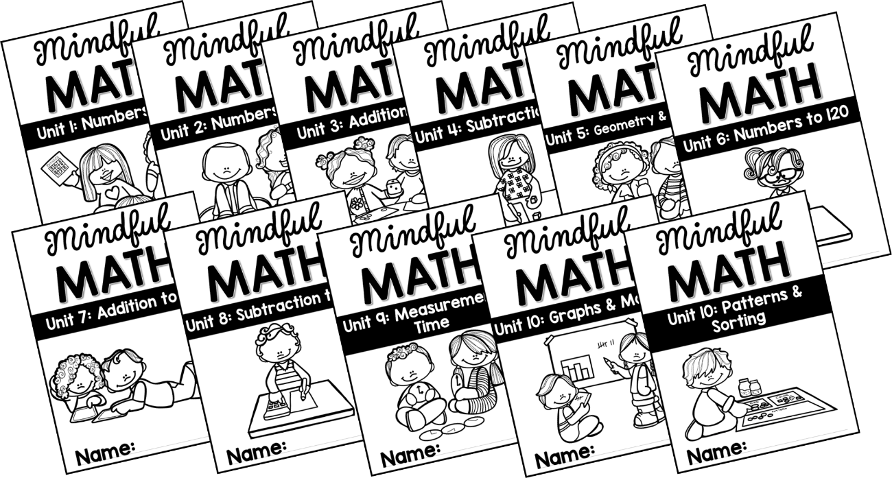 mindful math program free student covers
