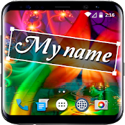 My Name on Live Luxury Wallpaper