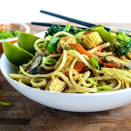 Vegan Pad Thai by Antonio Winston - Food & Drink Plated Food