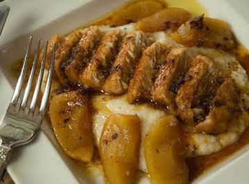 Low Fat Maple Syrup & Apple Braised Pork