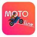 Moto Line - Motor bike racing game icon