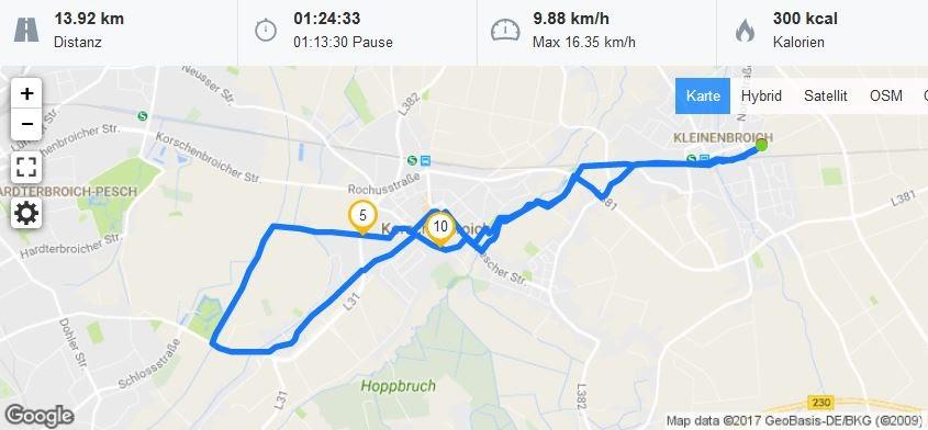 Radtour Niederrhein Fronleichnam 2017