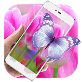 Purple Tulip HD Live Wallpaper