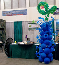 Photo: Ultimate Sport Show, Turnadaisy rotating tables and balloons by Turnadaisy's Art Dept.