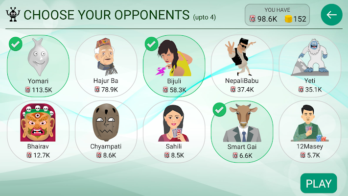 Marriage Card Game - screenshot