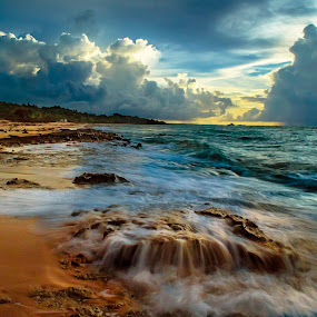 Afternoon Cloudy by Sonny Saban - Landscapes Beaches