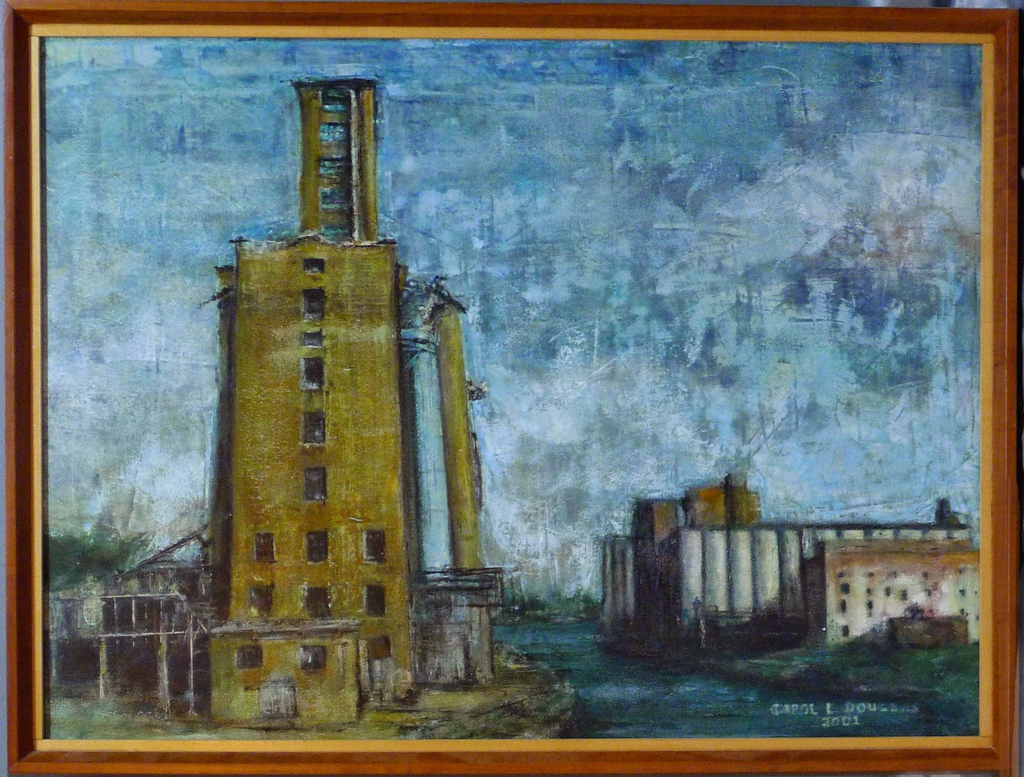 Photo: BuffaloGrain Elevators, 18X24, framed in cherry with cherry fillet.