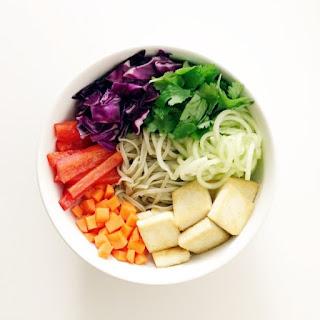 Rainbow Veggie Noodle Bowl