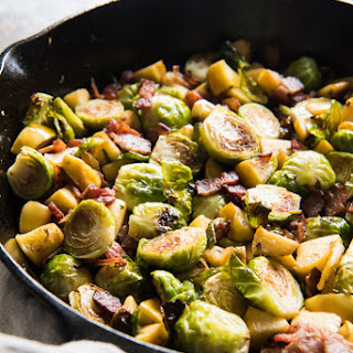 Roasted Brussels Sprouts with Bacon and Apples Recipe