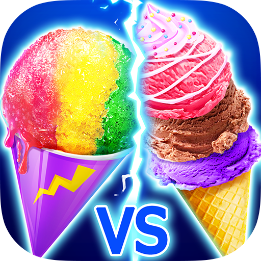 Snow Cone VS Ice Cream - Summer Icy Dessert Battle