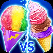 Snow Cone VS Ice Cream - Summer Icy Dessert Battle