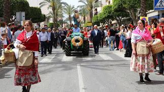 Celebración de la procesión romería en honor a San Marcos en El Ejido.