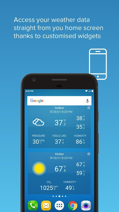 Screenshots of Netatmo Weather Station for iPhone