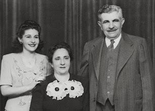 Photo: Regina, Martha, and Bernard Sternbach