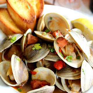 Portuguese Style Steamed Clams